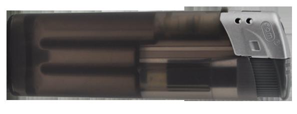 Elektrofeuerzeug transparent einseitig bedruckt schwarz