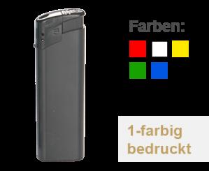 Elektrofeuerzeug auffüllbar 100 Stk. 1-seitig, 1-farbig bedruckt