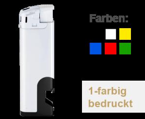 Elektrofeuerzeug Flaschenöffner schwarz, 100 St. 1-farbig, 1-seitig